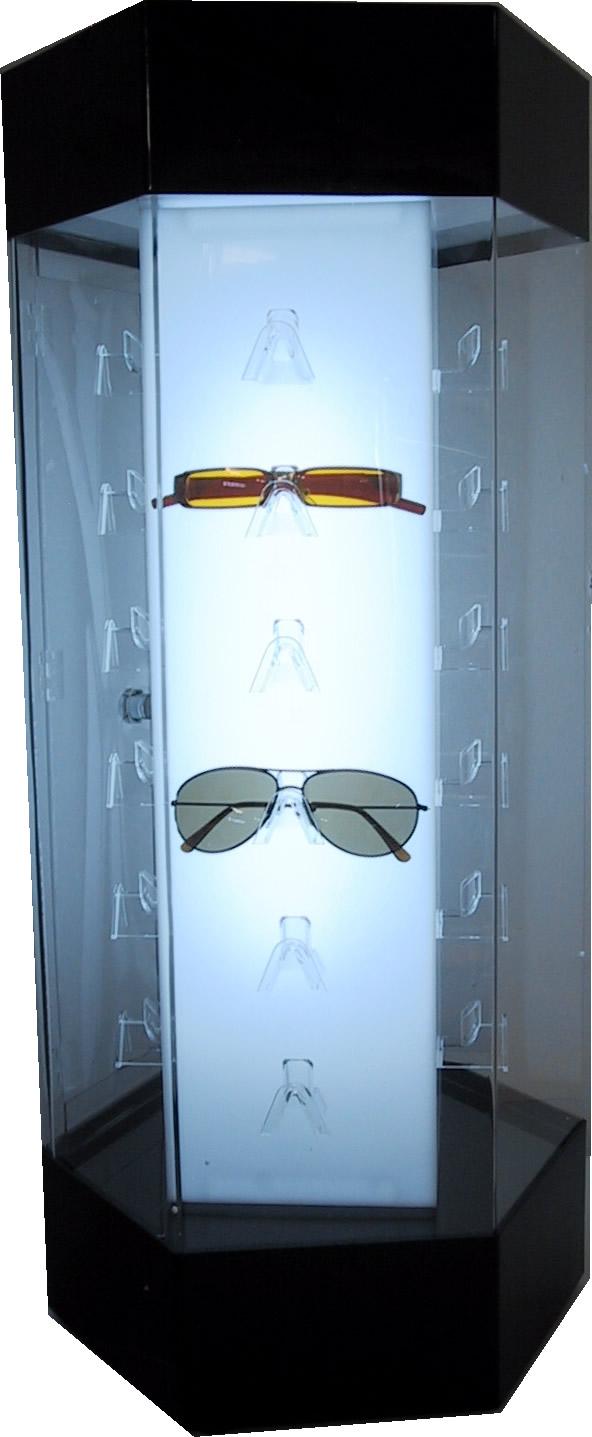 Superbe Rotating Perspex Sunglass Cabinet